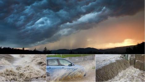 ANM, avertizare de vreme rea în România: Cod portocaliu de ploi torențiale extins până joi