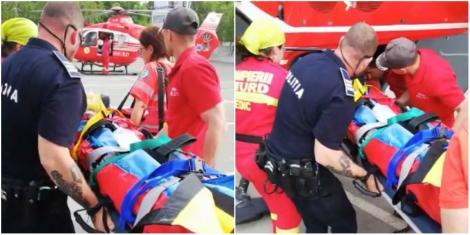 Copil în comă, după ce a căzut de a etajul cinci al unui bloc din Constanța. Băiatul era acasă cu mama lui - Video