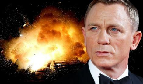 Explozie pe platourile de filmare pentru noul film James Bond. Daniel Craig va fi operat după o accidentare