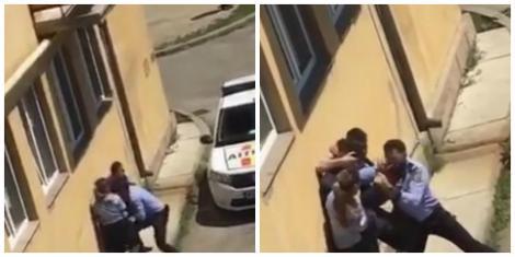 Un elev a venit drogat la școală și a început să distrugă lucrurile din clasă! Cinci polițiști au intervenit ca să-l dea afară