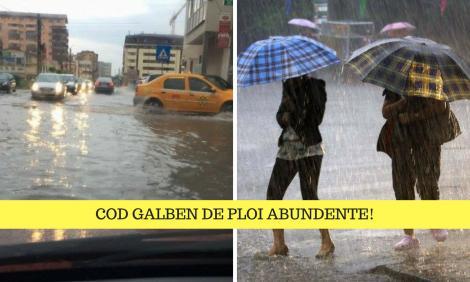 Alertă meteo: 29 de județe sub cod galben. Ploi torențiale și cantități de apă însemnate