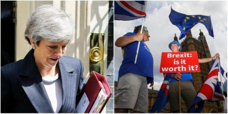 """Situație delicată în Marea Britanie. Theresa May s-a spălat pe mâini de Brexit: """"A demisionat"""""""