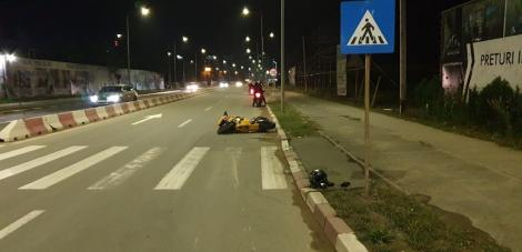 O poliţistă a fost accidentată de un motociclist băut, în Năvodari! Atenție, imagini ce vă pot afecta emoțional! Foto