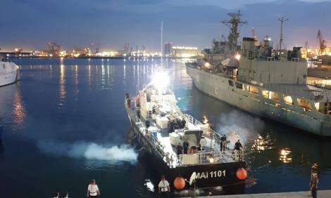 O navă a Poliţiei de Frontieră a revenit în România după ce a participat la 89 de misiuni în Marea Egee