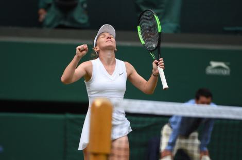 Ce a făcut Simona Halep imediat după ce a câștigat meciul cu Elina Svitolina! Tenismena, în culmea fericirii după calificarea în finala de la Wimbledon