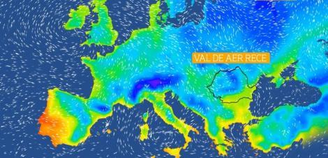 Informare meteo de frig și furtuni. ANM a emis alertă de vijelii puternice în aproape toată ţara