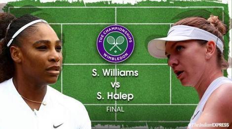 Simon Halep a fost aplaudată de Serena Williams la un punct din finala de la Wimbledon - VIDEO