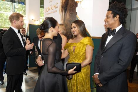 Explozie de vedete la premiera filmului The Lion King. Beyonce și Meghan Markle, apariție de senzație pe covorul roșu