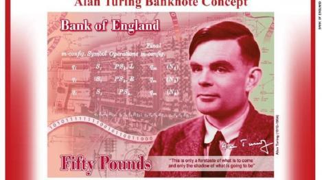 Matematicianul Alan Turing, celebru pentru decriptarea mesajelor codificate în timpul celui de-al Doilea Război Mondial, va figura pe bancnota de 50 de lire sterline