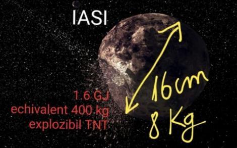 Bubuitura puternică de la Iași, cauzată de un meteorit de opt kilograme! Energia degajată de deflagrație, similară cu reactoarele nucleare