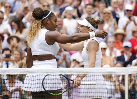 Ce i-a spus Serena Williams la fileu Simonei Halep, după finala de la Wimbledon