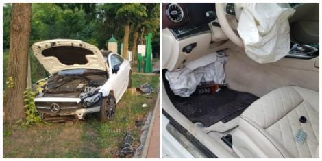 Om de afaceri din Iași, implicat într-un accident rutier! Bărbatul consumase alcool și luase pastile Xanax înainte de a intra cu bolidul în copac