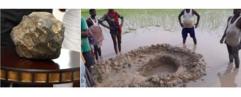 """Un meteorit de 15 kilograme s-a prăbușit în mijlocul unui câmp din Bihar. Speriați, fermierii au luat-o la fugă: """"Au văzut fum care se ridica de la sol"""""""