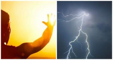 Vremea 26 - 28 iulie. Atmosferă sufocantă și furtuni violente