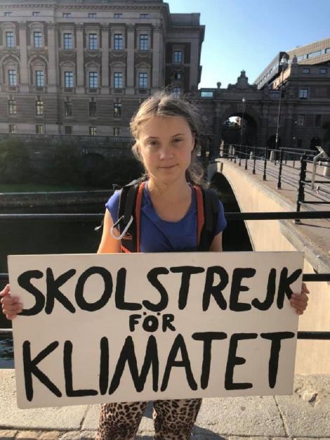 Activista de mediu Greta Thunberg va călători din Marea Britanie la New York cu o barcă cu pânze pentru a evita poluarea
