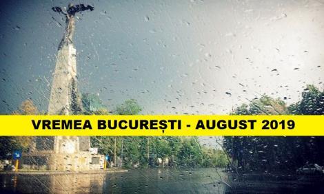 Vremea august 2019, București. Perioade cu instabilitate atmosferică accentuată