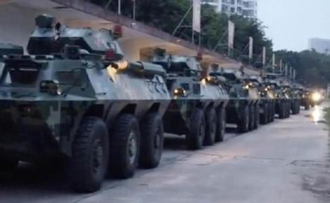 Statele Unite sunt profund îngrijorate de mişcările paramilitare din apropierea Hong Kongului