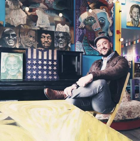 """Alexandru, fratele Monicăi Anghel, este un pictor talentat: """"Am făcut sute de tablouri"""" - Galerie foto"""