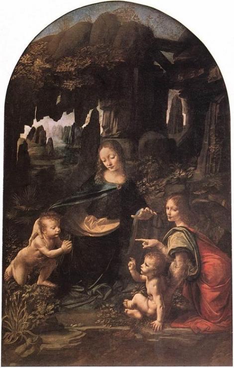 Schiţă abandonată, descoperită sub o pictură celebră a lui Leonardo da Vinci