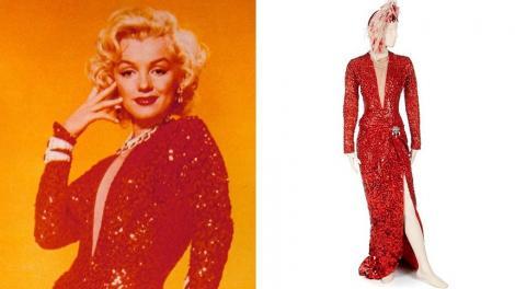 """Costume purtate de Marilyn Monroe în filme ca """"Gentlemen Prefer Blondes"""" şi """"River of No Return"""", scoase la licitaţie"""