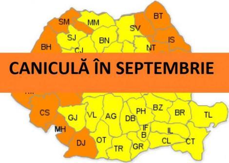 Toamnă caniculară. Cum va fi vremea până pe 16 septembrie. Prognoza meteo pe următoarele patru săptămâni