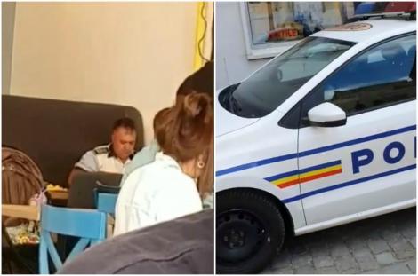 Revoltător! Au crezut că dacă poartă uniforma, pot ignora legea! Unde au parcat doi polițiști, în timpul serviciului, ca să ia masa – Video