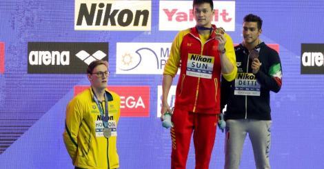 Audierea înotătorului chinez Sun Yang la TAS, amânată pentru luna octombrie