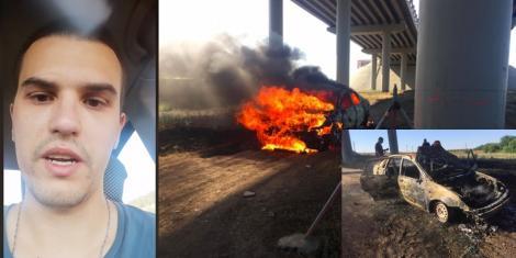 Tânărul care și-a dat foc în mașină, la Constanța, a murit la spital. Adrian Lipan a lăsat un mesaj video