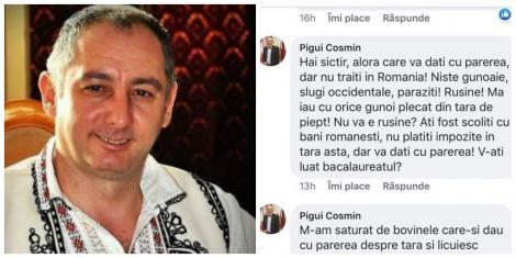 """Cum se apără un primar din Gorj care a numit românii din Diaspora """"gunoaie, slugi occidentale, paraziți"""": """"E cont fals!"""""""