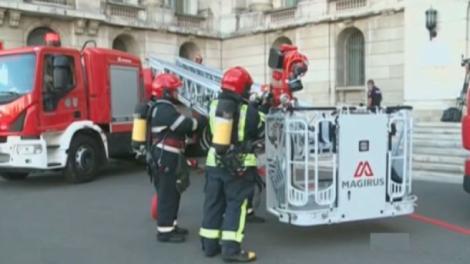 Incendiu la sediul MAI. La fața locului au fost trimie trei autospeciale de stingere și două ambulanțe