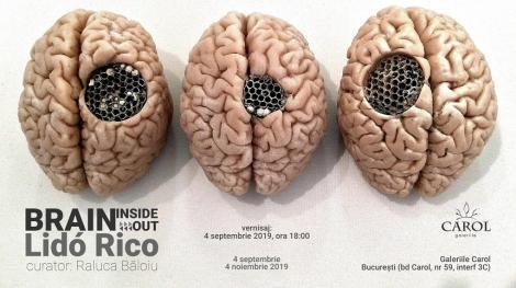 """Expoziţia """"Brain inside(out)"""" a sculptorului spaniol Lidó Rico, inaugurată în septembrie la Galeriile Carol"""