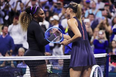 Serena Williams a eliminat-o în 59 de minute pe Şarapova în primul tur la US Open