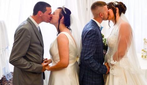 """Un frate și o soră s-au căsătorit în aceeași zi, ca să economisească bani: """"A fost o idee briliantă!"""""""