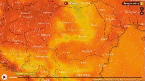 Revine canicula în toată țara. De miercuri, meteorologii anunță 35 de grade Celsius la umbră, 40 resimțite în aer