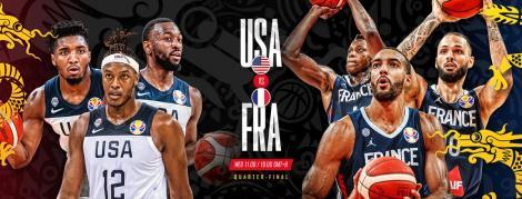 Naţionala SUA, eliminată în sferturile Cupei Mondiale de baschet, din China; americanii, învinşi după 13 ani
