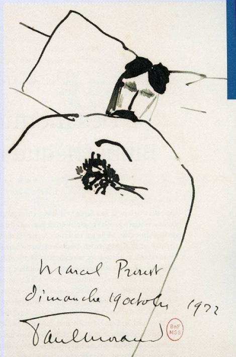 Marcel Proust a câştigat premiul Goncourt acum 100 de ani. Două desene inedite, expuse la Paris
