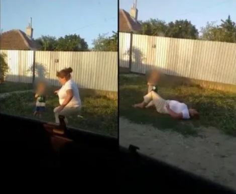 """Imagini revoltătoare! O mamă beată a căzut pe stradă, sub ochii fiului de șase ani, care îi ținea sticla cu bere: """"Iar ai băut, mamă? O să se aleagă praful de tine!"""""""