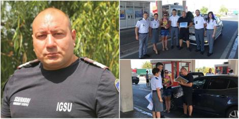 """Românul care a salvat doi oameni de la înec în Bulgaria, primit ca un erou la intrarea în țară: """"Am rămas fără aer"""""""