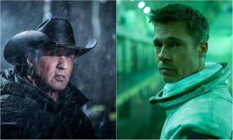 "Stallone, pe marile ecrane româneşti în ""Rambo V"". Brad Pitt, astronaut în ""Ad Astra"""