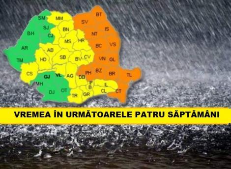 Prognoza meteo pe următoarele patru săptămâni. Când vin ploile