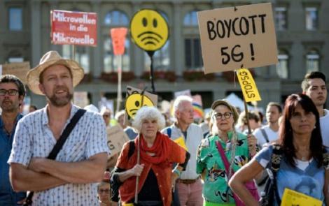 Manifestaţie împotriva 5G în Elveţia