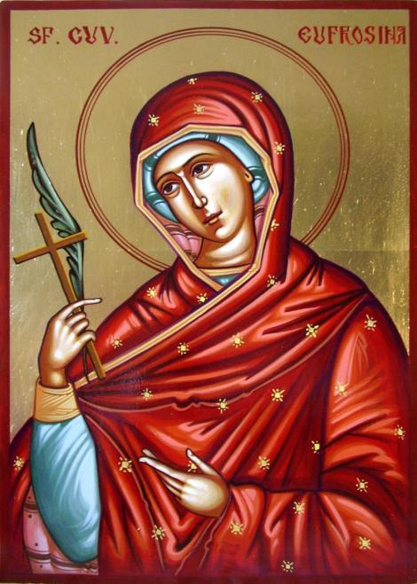 Calendar ortodox 25 septembrie. Pomenirea Sfintei Cuvioase Eufrosina