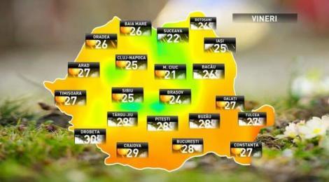 Se întoarce vara! ANM anunță că vremea se încălzește considerabil: Vor fi peste 28 de grade și soare