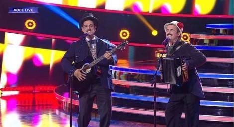 """Show senzațional la """"Te cunosc de undeva!"""" Șerban Copoț și Cezar Ouatu se transformă în Romică Țociu și Cornel Palade: """"Se mișcă bine, bine de tot!"""""""