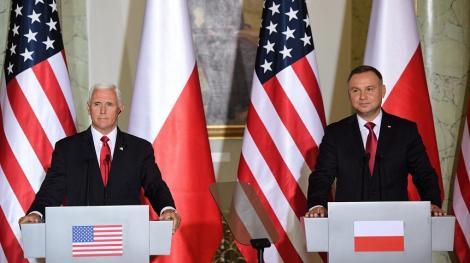 Vicepreşedintele american Mike Pence a reasigurat Polonia de angajamentul SUA de a o proteja de Rusia