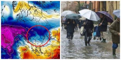 Un nou val de aer polar ajunge în România. Diferențe de 20 de grade, de la o zi la alta și ploi violente