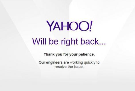 A picat Yahoo Mail ! Serviciul de mail este indisponibil în mai multe regiuni, cea mai afectată fiind Europa