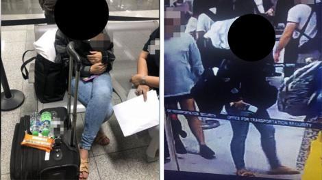 Prinsă în fapt! O femeie a ascuns în bagaj un copil de doar șase zile