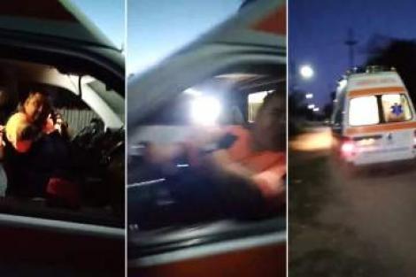 Imagini șocante! Un ambulanțier din Galați, filmat când scuipă un bărbat care a sunat la 112   VIDEO