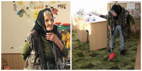 """A șters geamurile, a scuturat covoarele și a cosit iarba. Bunica Sofia îi așteaptă pe copilași la grădiniță: """"Sper să mă lase să rămân"""""""